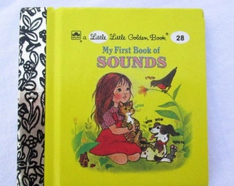 SALE 20% OFF My First Book Of Sounds, Original Little Little Golden Book, 1990s Miniature Classics 24 Pages, Rare Collectible Book