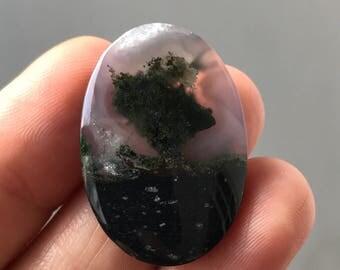 Beautiful Moss Agate Stone 20 x 30 mm