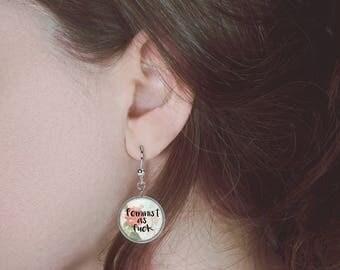 Feminist As Fck Earrings Feminist Jewelry Feminist Earrings Feminist Gift E97