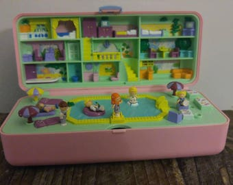 Vintage Polly Pocket Pool Party Play Set 1989