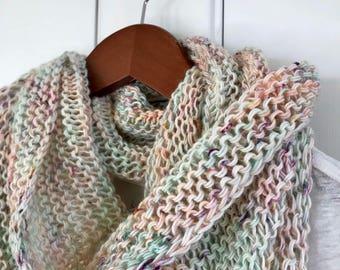 """Hand Knit Wrap """"Fragile"""""""