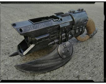 NEW BoomCo. Halo Brute Spiker - Apocalyptic, Zombie, Vampire, Cosplay, Steampunk Gun - (Pewter)