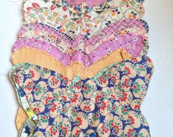 20 Vintage Fabric Butterflies for Applique