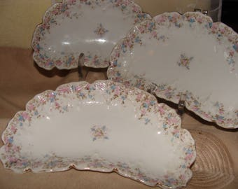 LS&S Carlsbad Bone Plates Made in Austria, Set of 3, Sold as a Lot