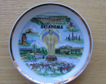 Oklahoma The Sooner State Plate Collectable
