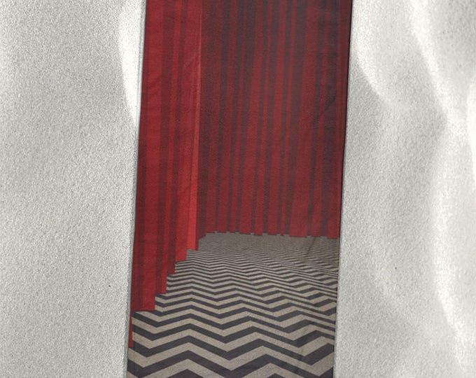 "Twin Peaks Beach Towel in the Black Lodge's Red Room 30""x60"""