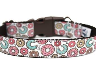 """Donut Dog Collar 3/4"""" or 1"""" Doughnuts Dog Collar Fun Dog Collar"""