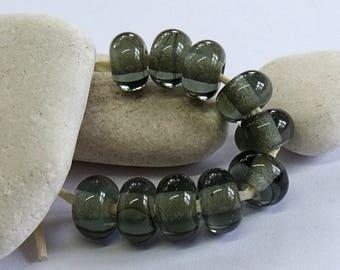 Gray, Lampwork Spacer Beads, SRA, UK