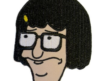 Tina Belcher Iron On Patch Embroidery Sewing Customise Denim Cotton Bob's Burgers Awkward Teen Butts Unicorns Ugggh Funny Cartoon Animation