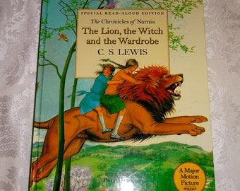 Vintage Book The Lion The Witch and the Wardrobe C. S. Lewis Chronicles of Narnia Read Aloud Edition