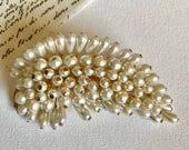 Vintage Pearl Cluster Brooch