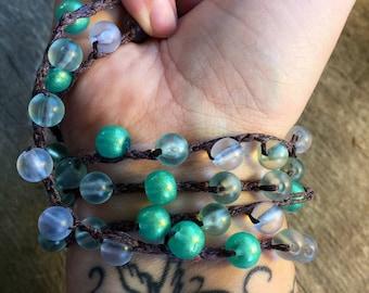 Leaf it to Me: Versatile crocheted necklace / bracelet / belt / headband