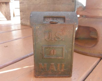 Antique Cast Iron Toy Bank - US Postal Mailbox
