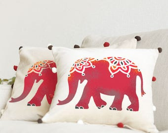 Indian Elephant Stencil from The Stencil Studio. Reusable home decor & DIY stencils, simple to use Indian style stencils. 10053
