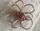 Copper-colored Wire Ababoo Brooch