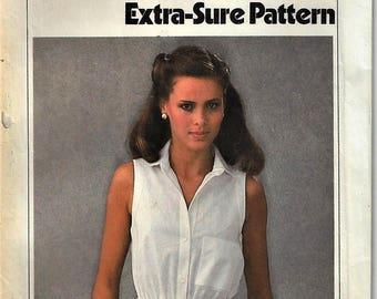 Vintage 1979 Simplicity Pattern #8972~Misses Sz 6-8-10~Misses Cool Sleeveless Shirtwaist Dress w Sash