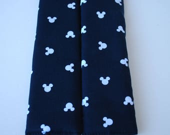 seatbelt covers car 1 pair Black and white Mickey Mouse patterned seatbelt covers