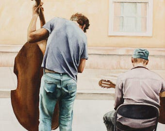 Watercolor - The Musicians - Print on Paper