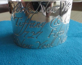 D049)  Vintage Tiffany Silver Cuff Bracelet