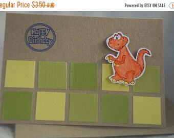 Choose Your Sentiment for Your Dinosaur Card Handmade Card