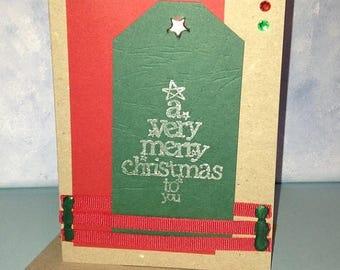 Kraft A Very Merry Christmas to You Card