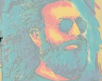 Jerry Garcia Sticker Blue Window