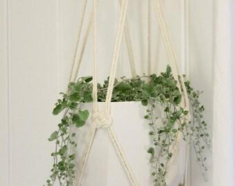 Custom Macrame Plant Hanger - Large Hanging Planter, Natural Cotton Rope Hanger, Hanging Planter   Free Shipping Australia