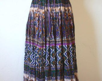 Clearance Sale Vintage Indian Cotton Maxi Skirt