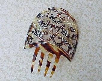 Lovely Edwardian ERa Jeweled Spanish Style Hair Comb