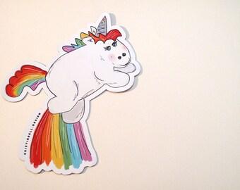 Awesome Illustrated Unicorn Magnet