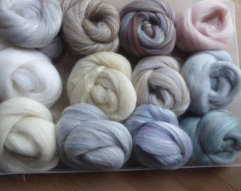 Hope Jacare custom blends - approx 115g textural selection - felt making  CB09