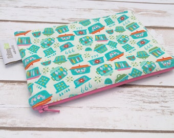 Reusable Snack Bag ~ Zippered Pouch ~ Favor Bag ~ Goody Bag ~ Eco Friendly in Kitchen Dishes Teal