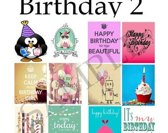 Birthday, Quotes, #1-2, Planner Stickers, Celebrate, Cake, Presents, Happy, Dogs, Minion, Banner, Balloons, ECLP, Plum Paper Planner