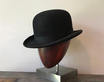 Vintage Derby Bowler Hat 7 1/8