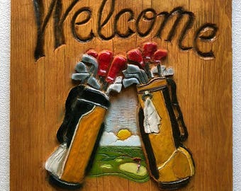 Golfers Welcome Personalized Sign