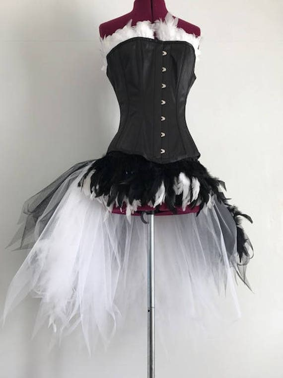 Black and White Feather Costume
