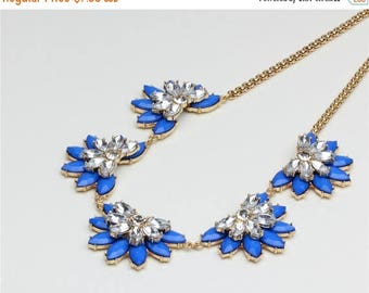ON SALE Floral pastel statement necklace
