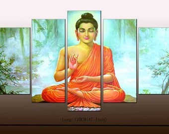 Modern Home Office/Study Wall Decor Siddhartha Gautama Buddha religion art Oil Painting Pictures Printed On Canvas Unframed