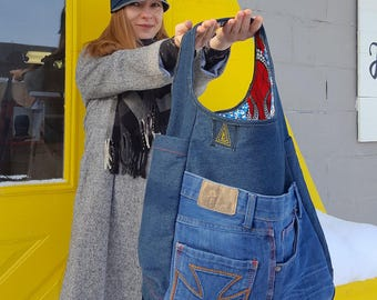 Upcycled Denim Jean Bag - FAFA Jean Bag