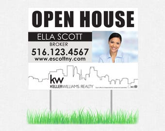 """real estate yard sign - 24"""" x 24"""" - full color both sides - FREE design and UPS ground shipping"""