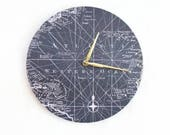 """12"""" Wall Clocks, Nautical Map Home Decor,  Gift For Dad, Boy Bedroom Clock, Home and Living, Home Decor"""