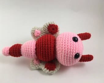 Butterfly Baby Rattle - Pink and Red
