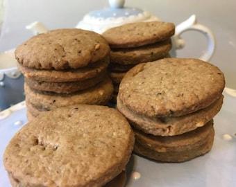 Vegan peanut butter cookies 10 pieces.