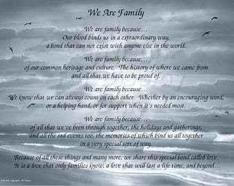 We Are Family Gift and Keepsake