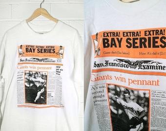 Vintage SF Giants Tee 1989 Bay Series Collectors Shirt Adult XL