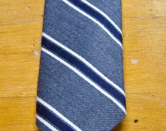 Vintage Brooks Brothers Wool Silk Striped Tie