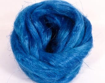 100% Dyed Flax combed top -Iris - (2 oz.)