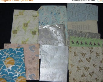 30% Off Clearance Sale Vintage Lot of Wedding Bride Gift Wrap