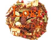 Loki Rooibos Chai Tea Blend - loose leaf rooibos tea, chai tea, apples, cranberries, pink peppercorns, Norse mythology, Vikings