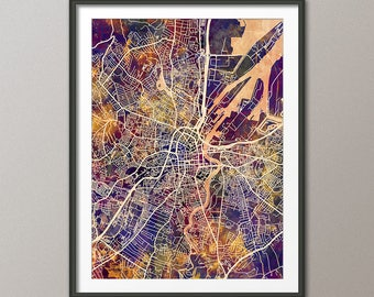 Belfast Map, Belfast Northern Ireland City Map, Art Print (3490)